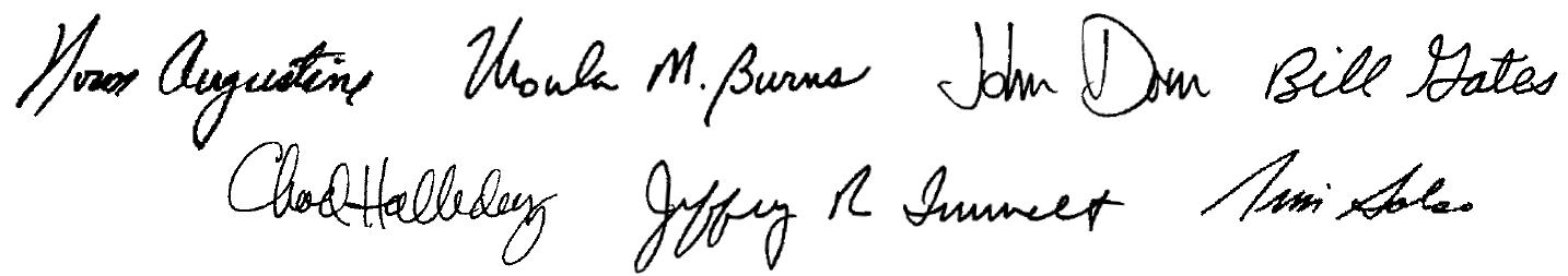 Principals' Signatures