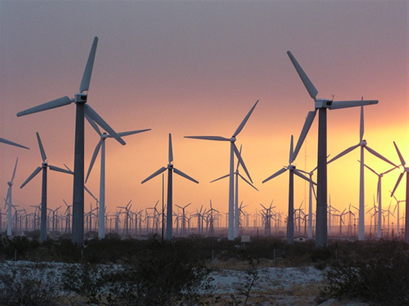 Wind Turbines Sunset 800x600